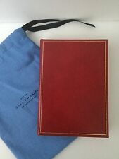 NWOT SMYTHSON BOND STREET RED LEATHER NOTEBOOK NOTEPAD GOLD EDGED LINED PAGES