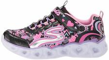 Skechers Kids' Heart Lights Sneaker, Black/Multi, Size 4.5 OMPY