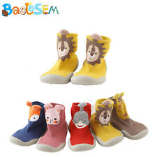 Infant Baby Boys Girls Sneaker Anti-slip Rubber First Walking Sock Shoes US Size