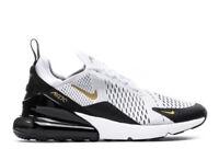 New Nike Air Max 270 Black White Gold Men's Size 8 Athletic Sneakers AV7892-100