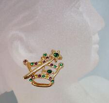 Mardi Gras Crown & Scepter Earrings (MGE138)