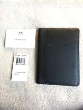 NWT Coach Black Leather Passport Case Holder F61494