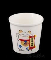 Pequeño Taza A The Gato Japonés Maneki Neko En Porcelana 360-SD2