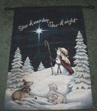 "Star of Wonder Star of Night Christmas Tapestry Banner Wall Hanging 25x37"" Jesus"