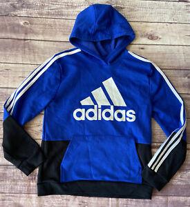 Adidas Boys Blue Hoodie 14/16