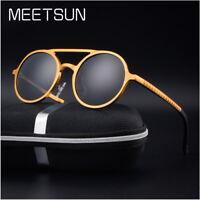 Vintage Retro Round Sunglasses Men's Round Steampunk Outdoor Eyewear Sun Glasses