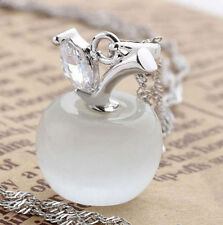 Charming Opal Apple Style Cat Eye Stone Silver Plated Pendant Jewelry☆