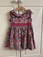 Girls 3 - 4 Yrs Sugar Pink Dress Sleeveless Floral Design