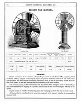 Antique Electric Fan & Motor Catalog +MORE ADs Collection Dynamo AC DC Edison GE