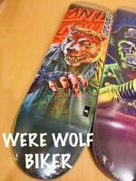 Santa Cruz The Worst Everslick WOLF BIKER Skateboard Deck