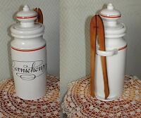 Porcelaine D'AUTEUIL pot à cornichons service bistrot création J Lobjoy