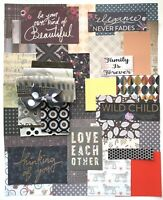 Junk Journal Kit, Scrapbooking Papers, Fabric, Quotes 45 Items