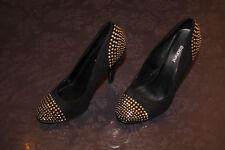 Schwarze Pumps/High Heels mit Steinchen von Graceland, Gr. 36 (Gothic/Chic)