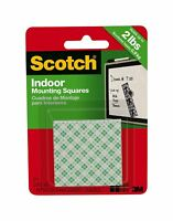 3M 311DC 76996 Scotch Indoor Mounting Squares, 1 in x 1 in, White