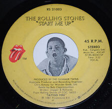 Rock 45~THE ROLLING STONES~Start Me Up / No Use In Crying~Vinyl 7""