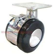 4/pk Heavy metal furniture swivel casters/wheel w/ plate & brake for replacement