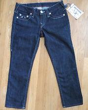 NWT True Religion Rolled Capri Americana Chain Body Rinse Jeans 27 Nordstrom