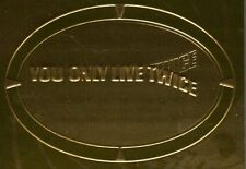James Bond 50th Anniversary Gold Plaque Movie Title You Only Live Twice P5