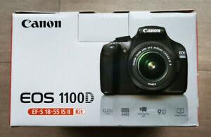 Canon EOS 1100D SLR-Digitalkamera schwarz (Kit mit EF-S 18-55mm Objektiv)