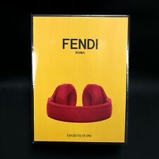 NEW SEALED | Beats by Dr Dre Pro x FENDI Wired Leather Headphones - Red Fire