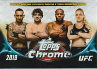 2019 Topps UFC CHROME MMA Trading Cards 7+1 Bonus Pack VALUE/BLASTER Box CASE