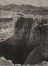 Fissure in Road near Tikitapu Bush, after the Eruption. New Zealand 1890 print