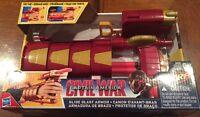 NERF Marvel Civil War Captain America Iron Man Slide Blast Armor Darts Kids Toy