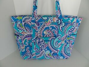 NWT Vera Bradley Get Going Tote Hand Shoulder Extra Large Bag in Waikiki Paisley