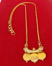 Ethnic South Indian Gold Plated Temple Jewelry Chain Pendant Bridal Necklace c44