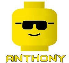 Lego Head Iron-On T-Shirt Transfer w/FREE Personalization