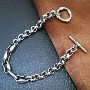 Hip hop Chain Stainless Steel 316L Bracelet Silver tone men womens B267 0305