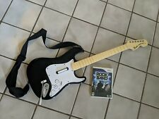 Rockband Fender Stratocaster Guitar and Rockband Game Tested No Dongle