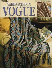 CROCHET PATTERNS - Variegated In Vogue  12 AFGHANS **reduced**