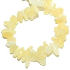 GC164f Yellow Aragonite Small 7mm - 10mm Polished Gemstone Chip Beads 33""
