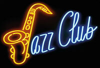 Jazz Club Neon Blechschild Schild gewölbt Metal Tin Sign 20 x 30 cm F0241-X
