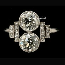 2.25 Ct Forever Off White Moissanite Engagement Ring 925 Sterling Silver Size 7