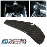 US Carbon Fiber Look Gear Shift Knob Head Cover For BMW 3 Series E90 E91 E92 E93