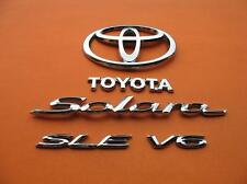 04 05 06 TOYOTA SOLARA SLE V6 REAR TRUNK LID CHROME EMBLEM LOGO BADGE SIGN SET 4