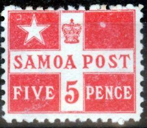 Samoa 1895 5d Dull Red SG72 Fine Mtd Mint