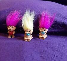 Troll Dolls Lot Of 3 Small
