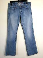AEROPOSTALE Women's Chelsea Bootcut Medium Wash Blue Jeans size 9/10 Long