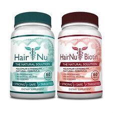HairNu & HairNu Biotin - Natural Hair Loss Treatment - Fast Hair Growth
