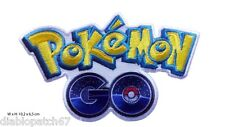 Pokemon GO Logo Embroidered Iron On Patch Nintendo 10,2x6,5cm
