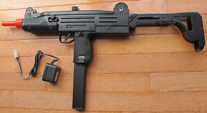 Auto Electric Airsoft Gun UZI Style with Rechargeable Battery & Charger 240 FPS
