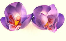 Double Lavender Orchid Poly Silk Flower Bud Hair Comb,PinUp,Updo,Rockabilly