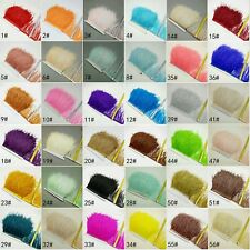 1 Meter Ostrich Feather Trimmings Trim Cloth Clothing Bag Decoration Costume UK
