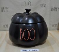 Rae Dunn BOO Pumpkin Canister Black Orange Letter Large NEW HTF Halloween '20