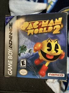 PAC-MAN WORLD 2 (Game Boy Advance, GBA) In Box With NO MANUAL