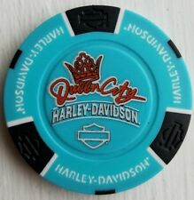 Harley Davidson Poker Chip Queen City Fairfield Ohio Aqua FULL COLOR