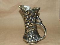 "Vintage McCoy Pottery # 641 Antiqua Silver & Gold Tone Grape Pitcher Vase 9.5"""
